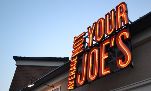 Not Your Average Joe's lights up the sky in Gaithersburg, MD.
